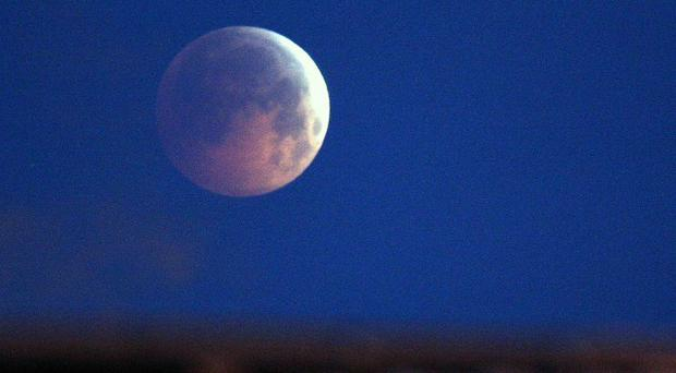 Today's lunar eclipse as seen from the Scottish Borders