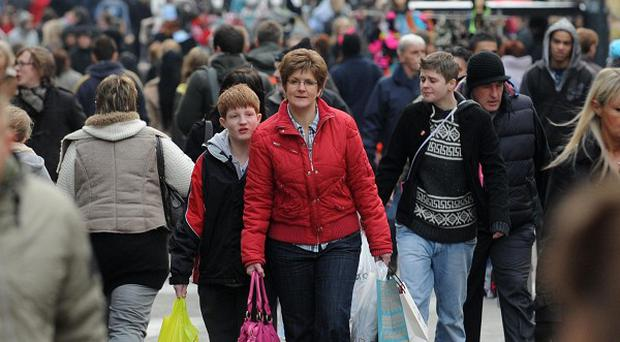 Christmas shoppers have been out in force in Leeds
