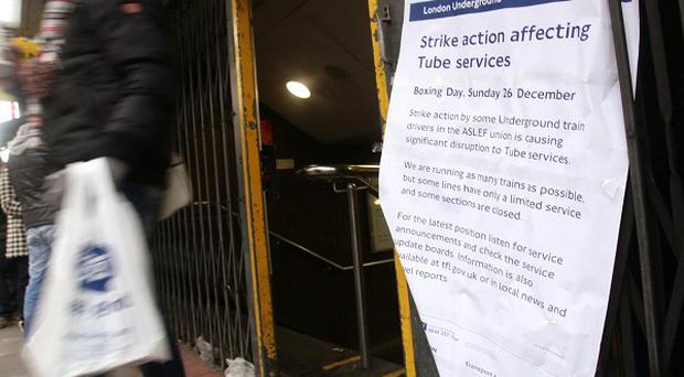 A sign outside Bond Street Underground station on Oxford Street, London, as the latest Tube strike caused disruption on every line in the capital