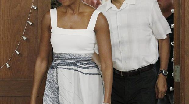 President Barack Obama and his family have made a rare Sunday trip to church