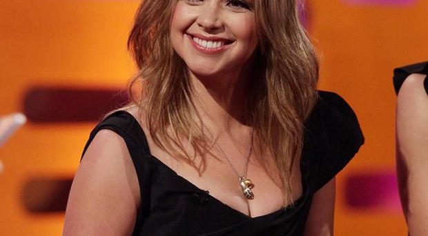 Singer and presenter Charlotte Church during a recording of The Graham Norton Show