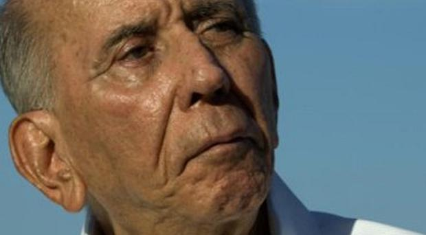 Venezuelan president Hugo Chavez has offered condolences after the death of former leader Carlos Andres Perez, pictured (AP)
