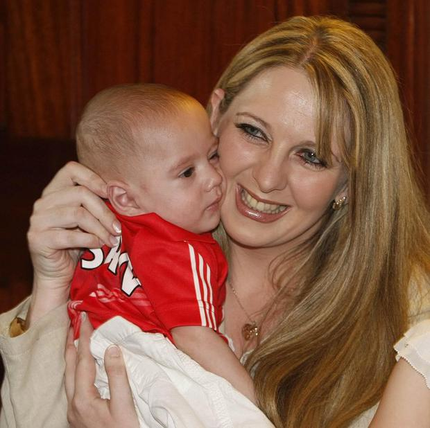 Angie Benhaffaf her son Hassan