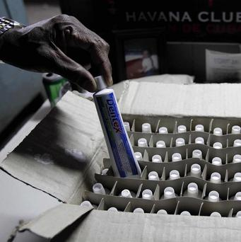 A box of toothpaste at a government store in Havana, Cuba (AP)