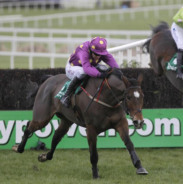 Big Zeb clears the last to win the Paddy Power Dial-A-Bet Chase