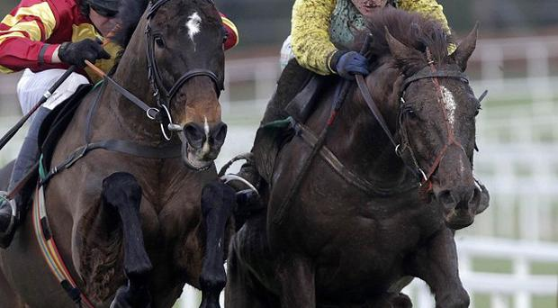 Mourad (right) takes it up from Powerstation at Leopardstown