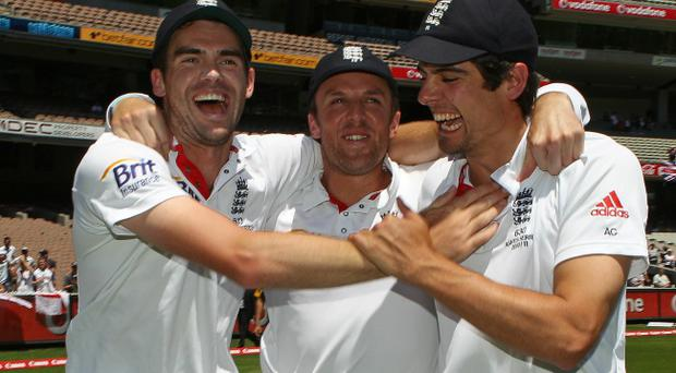 James Anderson, Graeme Swann and Alastair Cook are having the last laugh on Australia as England assert their authority in the Ashes series