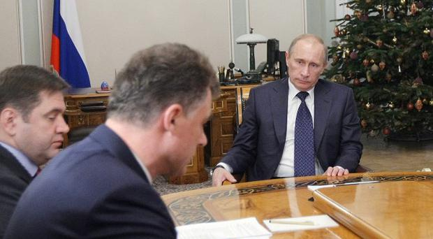 Prime Minister Vladimir Putin holds a meeting over power outages in Russia