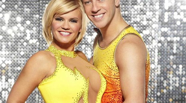 Celebrity hopefuls including Kerry Katona have donned their sequins ahead of the first show