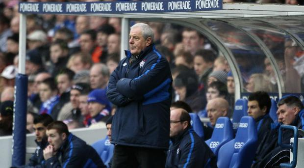 GLASGOW, SCOTLAND - JANUARY 02: Walter Smith, Manager of Rangers looks out from the dug out during the Clydesdale Bank Premier League match between Rangers and Celtic at Ibrox Stadium on January 2, 2011 in Glasgow, Scotland. (Photo by Jeff J Mitchell/Getty Images)