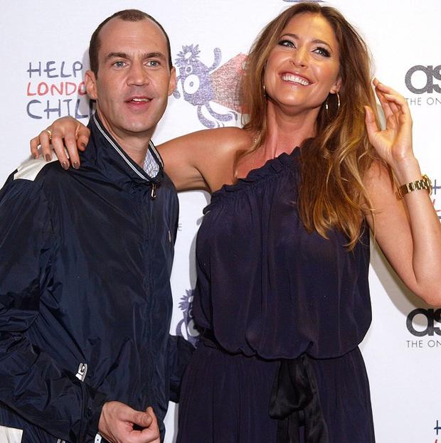Capital FM presenters Lisa Snowdon and Johnny Vaughan