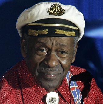 Rock-and-roll legend Chuck Berry felt ill and was checked out by ambulance medics at a show (AP)