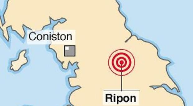 An earthquake measuring 3.6 on the Richter scale struck near Ripon, north Yorkshire, on Monday night
