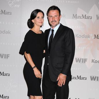David Arquette with ex-wife Courteney Cox