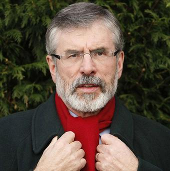 Gerry Adams said he would consider a coalition deal after the election