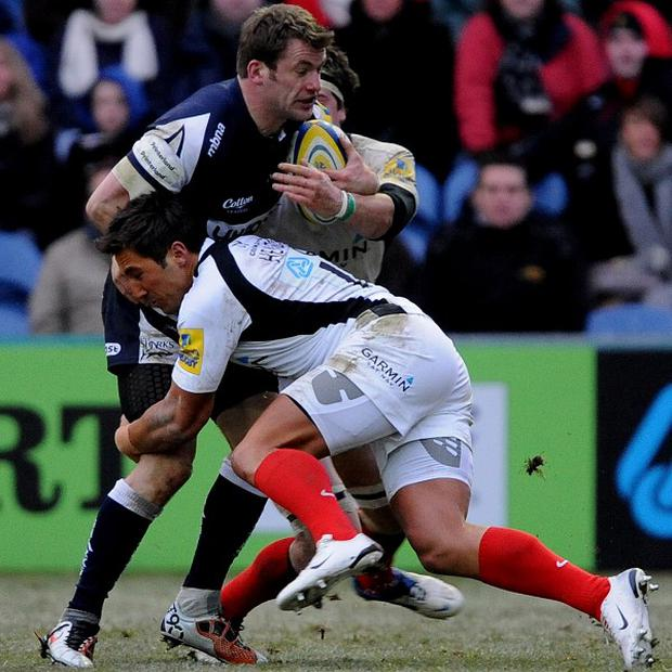 Mark Cueto (left)