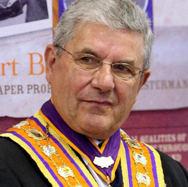 Outgoing Orange Order Grand Master Robert Saulters