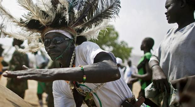 Southern Sudanese take part in a pro-separation rally in the southern capital of Juba (AP)