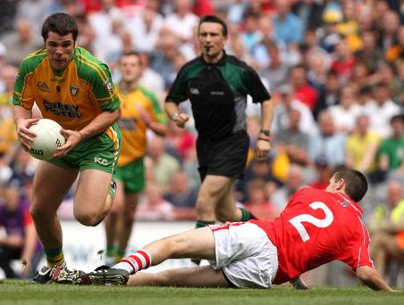 Kevin Cassidy (left) hopes to shake off the Swine flu virus to return for Donegal against UUJ