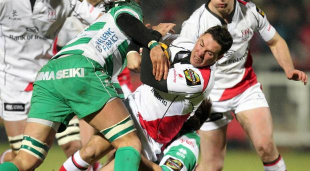 Paddy Wallace (left) is still committed to Ulster's cause but he doesn't want to curtail Ian Humphrey's (above) development at Ravenhill.