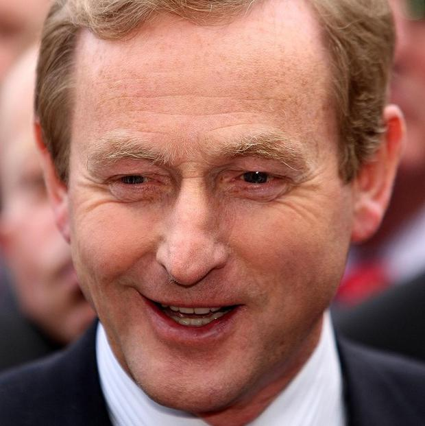 Enda Kenny's Fine Gael extended its support, according to a new poll