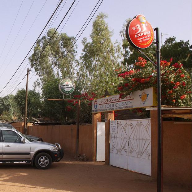 The Toulousain restaurant in Niamey, Niger, where two French nationals were kidnapped at gunpoint (AP)