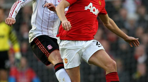 Jonny Evans was strong at the back for Manchester United against Liverpool