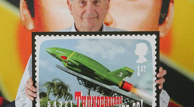 Gerry Anderson's work is being celebrated with a new stamp collection