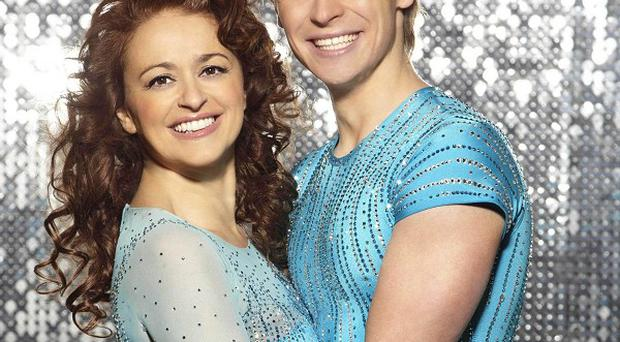 Viewers saw Nadia Sawalha skate out of Dancing On Ice