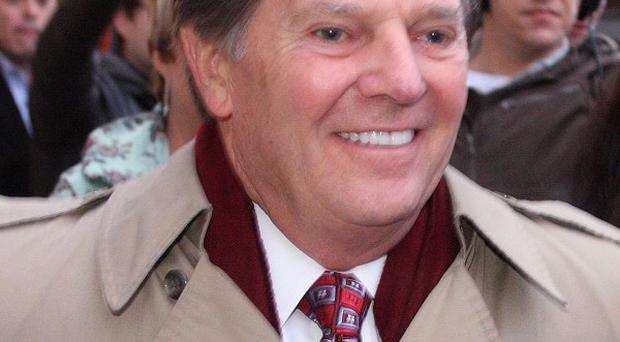 Former House Majority Leader Tom DeLay leaves the Travis County Jail after posting an appeals bond (AP)