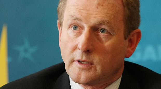 Fine Gael leader Enda Kenny had put a video message on the site before it was hacked