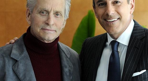 Michael Douglas was interviewed by Matt Lauer for NBC's Today show
