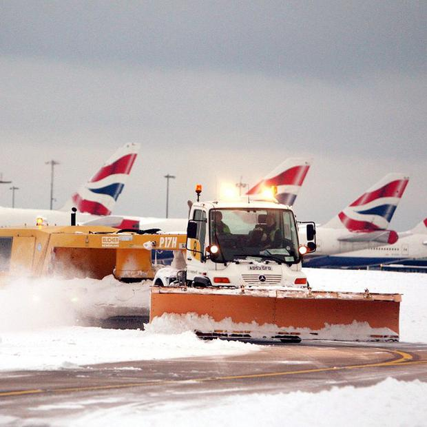 Bad weather meant passenger numbers at BAA's airports last month were 11 per cent down on December 2009