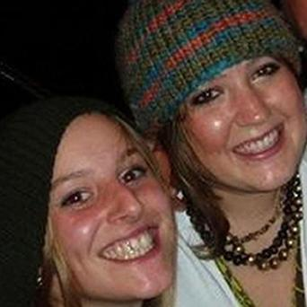 Joanna Yeates, left, with her friend Rebecca Scott