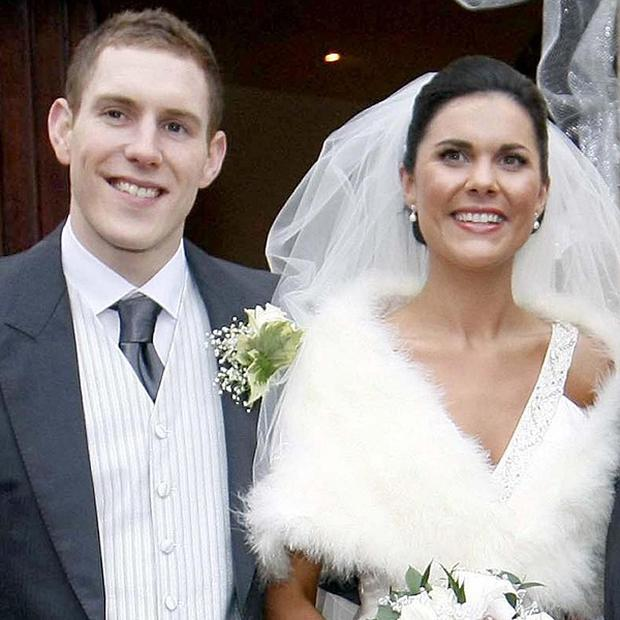 John McAreavey and wife Michaela on their wedding day