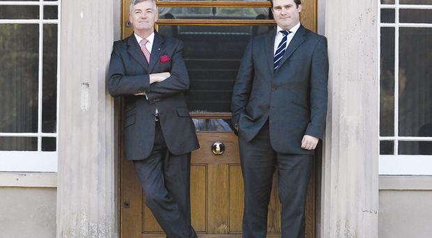 David Anderson and David Wilson at the door of Montalto Estate, a venue catering for the top end of the market