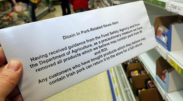 Four men have been arrested over the Irish pork scare which led to meat being removed from shelves in December 2008