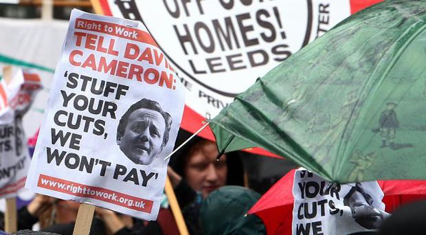 The TUC is to hold rallies against spending cuts over the weekend