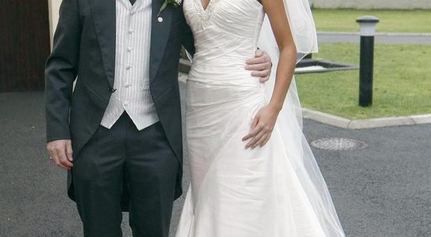 Tyrone Manager Mickey Harte at his daughter Michaela's wedding to John McAreavey
