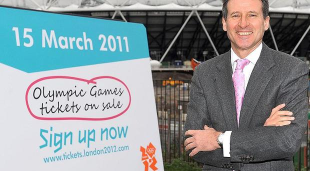 Lord Coe has urged people to get tickets for the London 2012 Olympics, saying it is a 'once-in-a-lifetime opportunity'
