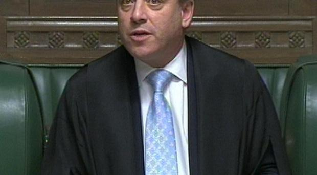 Speaker John Bercow refuses to wear traditional dress in the House of Commons