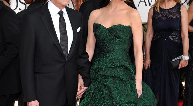 Michael Douglas and Catherine Zeta Jones stepped out for the Golden Globes