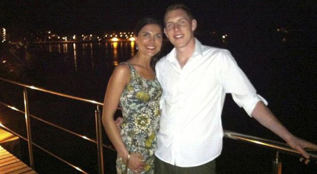 John and Michaela McAreavey on their honeymoon