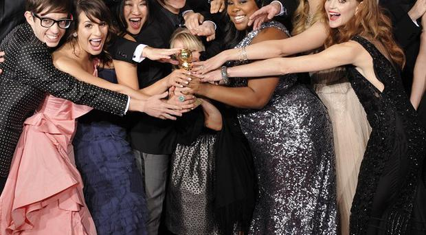 Glee was one of two big TV winners at the Golden Globes