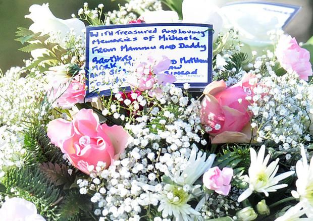 Poignant message and flowers from Michaela McAreavey's family