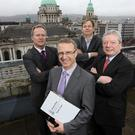 Judging takes place this week for the Ulster Bank Business Achievers Awards, which is run in Northern Ireland in association with the Belfast Telegraph. The awards ceremony for Ulster regional finalists takes place on January 27 in the Merchant Hotel, Belfast. Leading the panel of judges is Ulster Bank's head of business centres Ian Jordan, with (left to right) Paul Allen, chief executive of Tayto, Sam McIlveen, digital publisher of the Belfast Telegraph and Liam Nellis, chief executive of InterTradeIreland