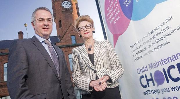 Alex Attwood and Pip Jaffa from the Parents' Advice Centre launch the Child Maintenance Choices initiative