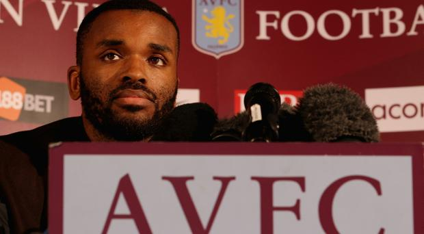 Darren Bent speaks to the media during a press conference to announce him signing for Aston Villa at Villa Park on January 18, 2011 in Birmingham, England.