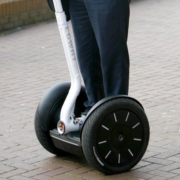 A man has been convicted for riding a Segway on a pavement