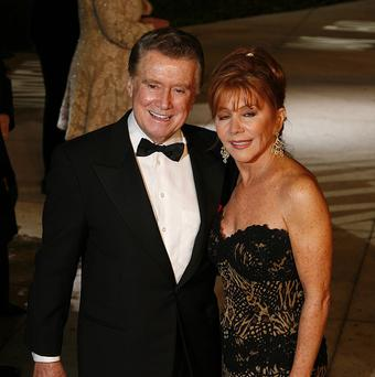 Regis Philbin, pictured with his wife Joy, is stepping down from his show